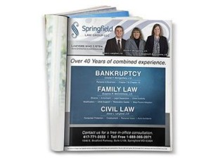 Red Crow Marketing - Springfield Law Group Full Page Print Ad
