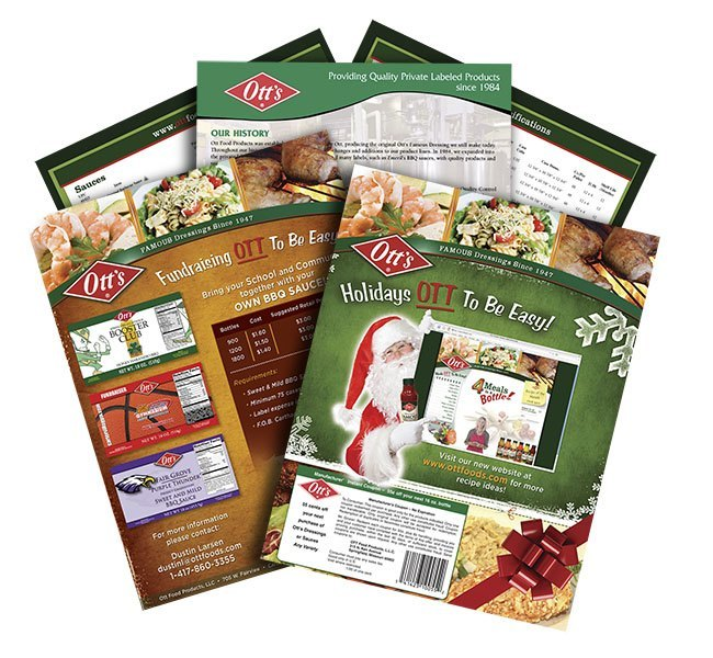 Red Crow Marketing - Ott's Foods Print Media