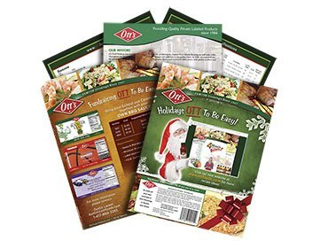 Otts Foods Print Ads