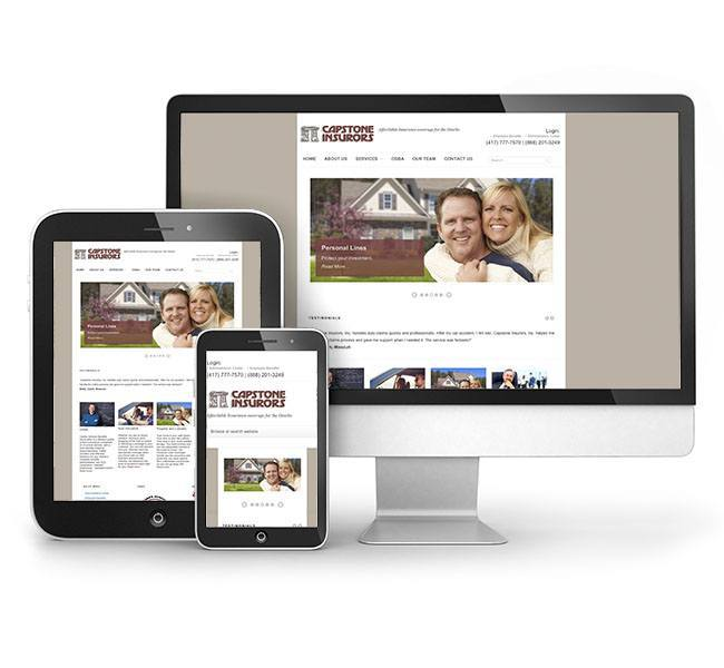 Red Crow Marketing - Capstone Insurance Responsive Website