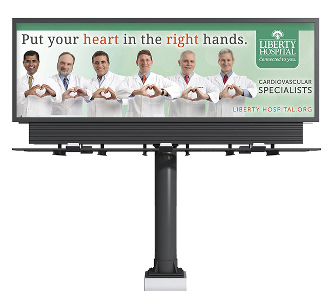 Red Crow Marketing - Graphic Design - Liberty Cardiology Billboard