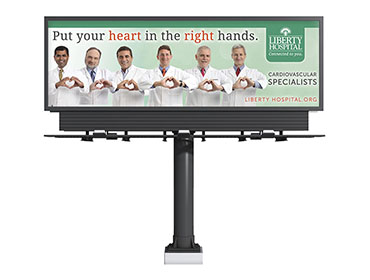 Liberty Hospital Cardiology Billboard