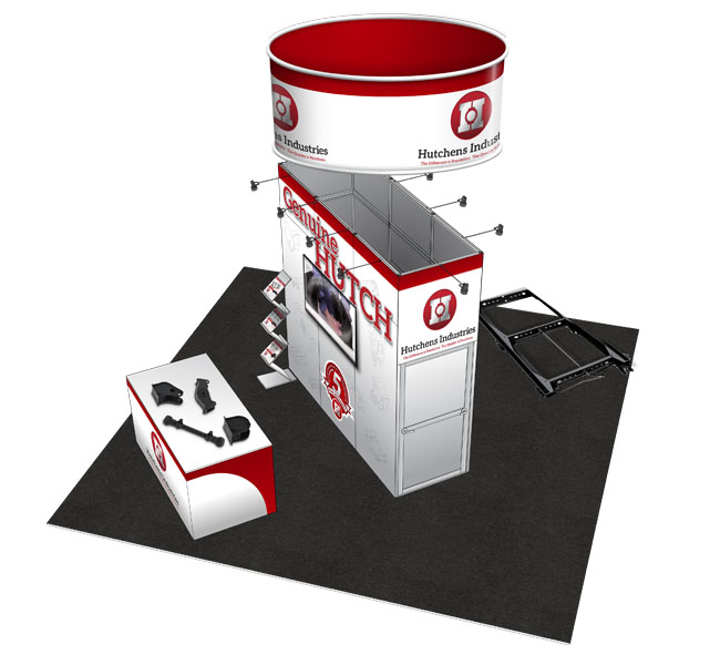 Red Crow Marketing - Graphic Design - Hutchens Industries Trade Show Display