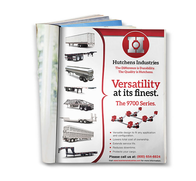 Graphic Design - Hutchens Industries 9700 Versatility Print Ad