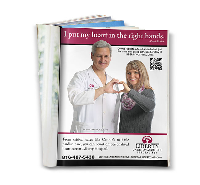 Red Crow Marketing - Graphic Design - Liberty Hospital Cardiology Ad
