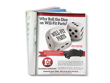 Hutchens Industries – Dice Print Ad