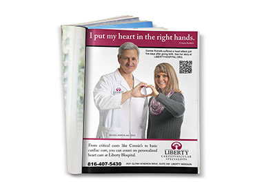 Graphic Design - Liberty Hospital Cardiology Ad TN