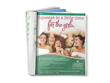Graphic Design - Liberty Hospital Womens Imaging Print Ad TN