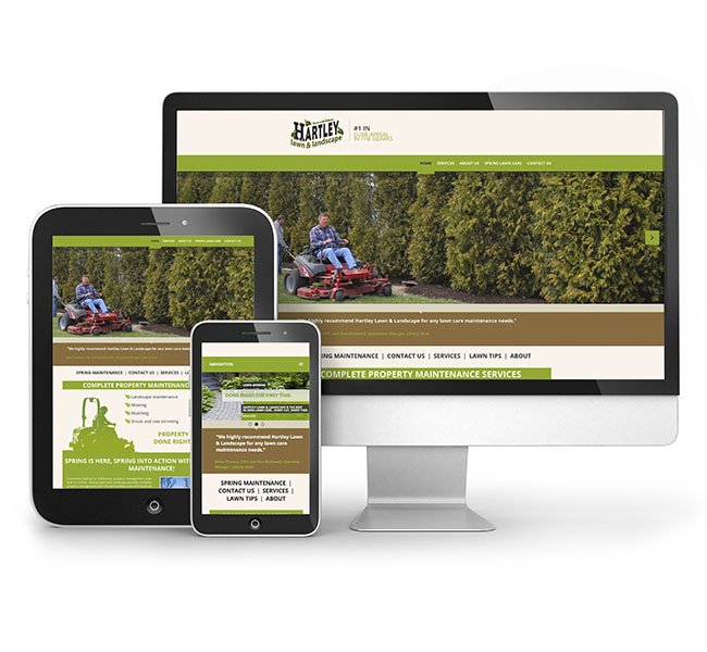 Web Design - Hartley Lawn and Landscape