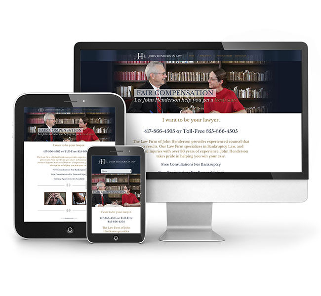 Web Design - John Henderson Law web Design