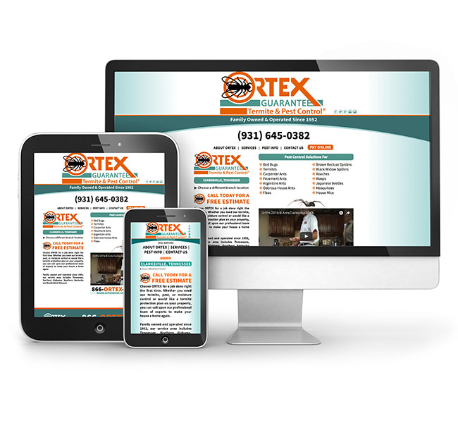 Web Design - Ortex Pest Control Website