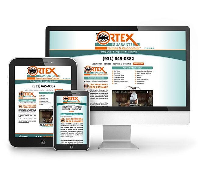 Web Design - Ortex Pest Control Website