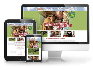 Web Design - Caroline's Pampered Pet Motel Website TN