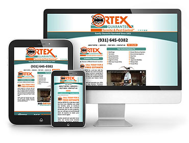 Web Design - Ortex Pest Control Website TN