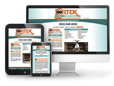 Ortex Pest Control – Web Design