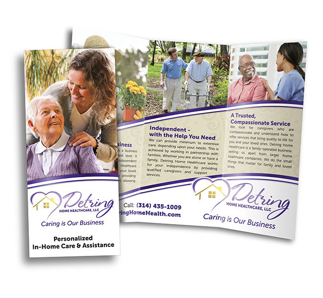 Detring Home Healthcare Brochure  Red Crow Marketing