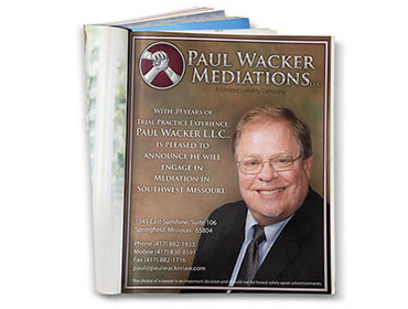 Paul Wacker Mediations – Magazine Ad