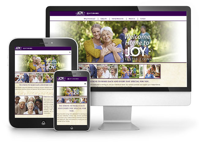Red Crow Marketing Joy Assisted Living Website Launch