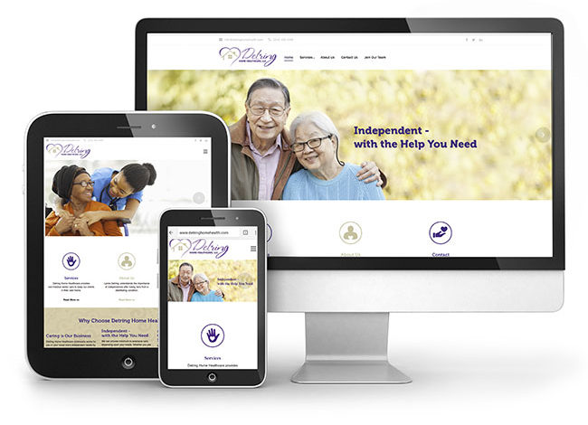 RCM-Detring-Home-Healthcare-website-launch