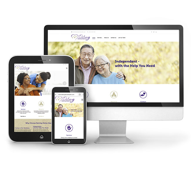 Red Crow Marketing - Web Design - Detring Home Healthcare Website