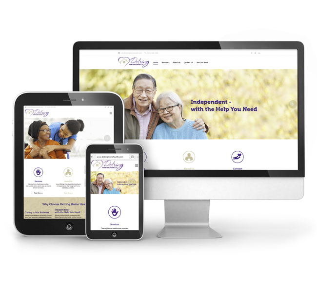 Detring Home Healthcare - Website Design