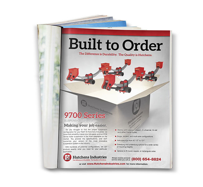 Red Crow Marketing - Graphic Design - Hutchens Industries - 9700 Built to Order Print Ad