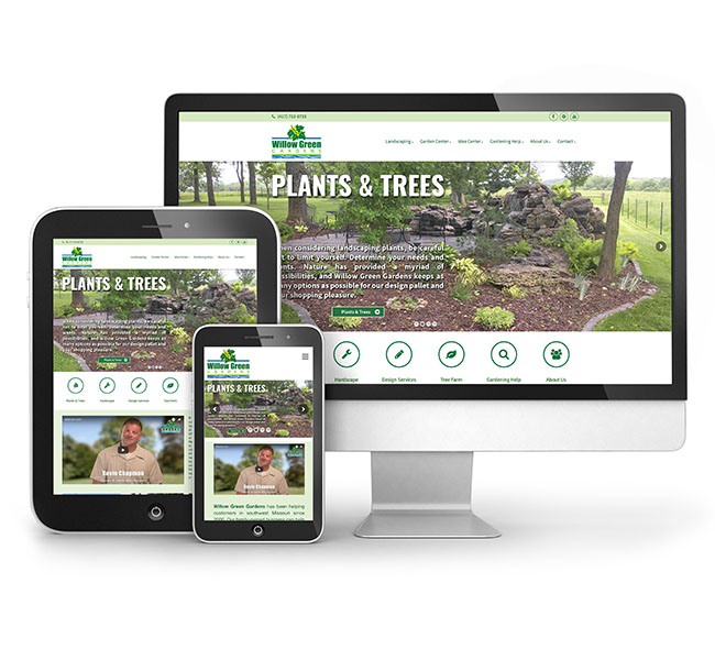 Red Crow Marketing - Willow Green Gardens - Website Design
