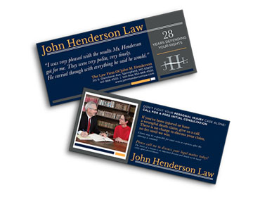 John Henderson Law Personal Injury Cards