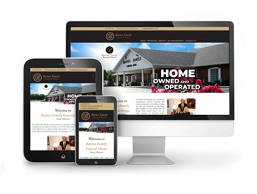 Barnes Family Funeral Home Web Design