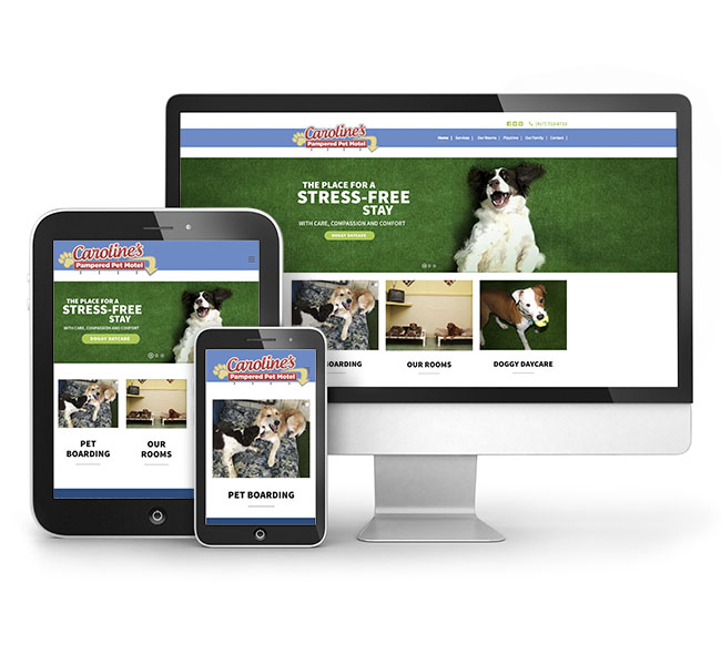 Caroline Pampered Pet Motel Website