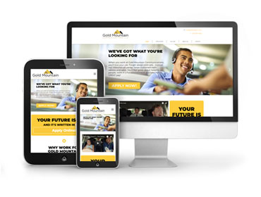 Gold Mountain Communications Recruitment Web Design
