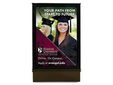 Evangel University Mall Ad Board