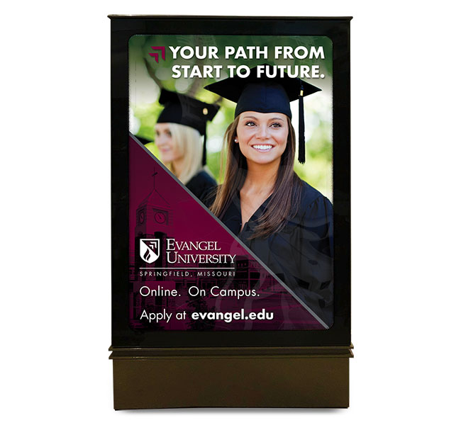 Red Crow Marketing - Evangel University Mall Ad Board