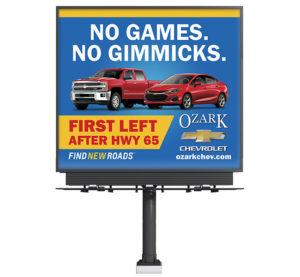 Ozarks Chevrolet No Games No Gimmicks Billboard