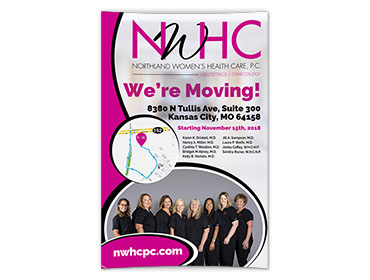 Northland Women's Health Care We're Moving Posters