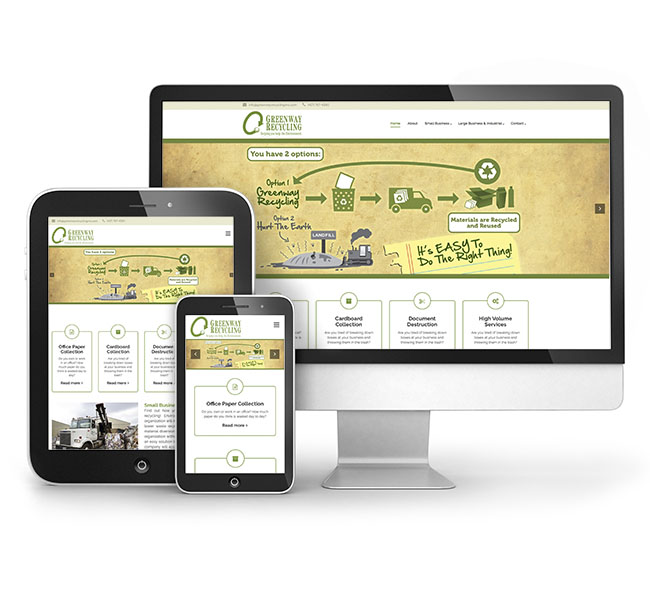 Red Crow Marketing Portfolio - Greenway Recycling Website