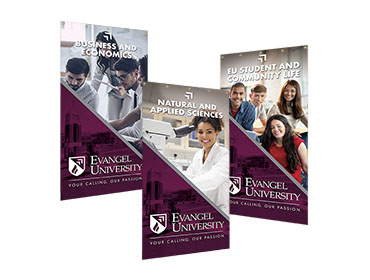 Red Crow Marketing Portfolio Other Evangel University Department Banners TN