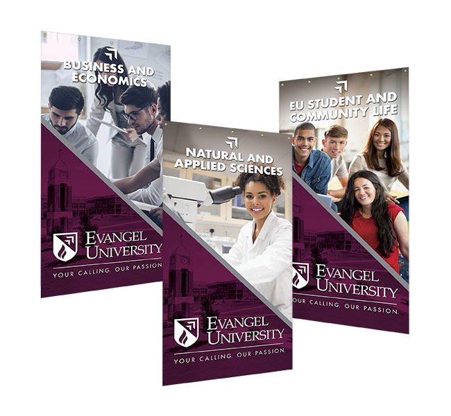 Red Crow Marketing Portfolio - Evangel University Department Banners