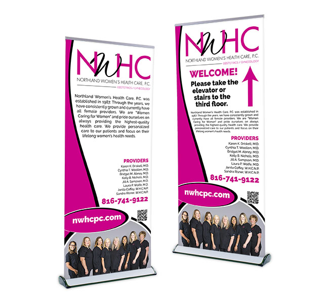 Red Crow Marketing Portfolio - NWHC Banner Stands