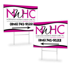 Red Crow Marketing Portfolio Other NWHC Directional Yard Signs