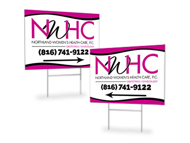 Northland Women's Health Care P.C. Directional Yard Signs