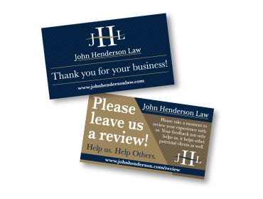 Red Crow Marketing Portfolio Print John Henderson Review Cards TN