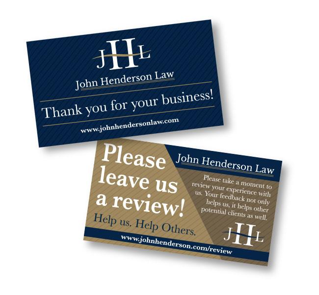 Red Crow Marketing Portfolio - John Henderson Review Cards