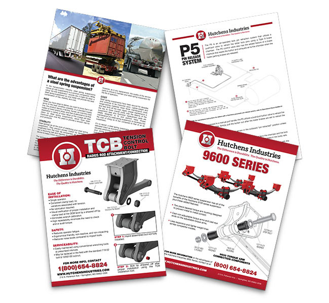 Red Crow Marketing - Graphic Design - Hutchens Industries Sales Sheets