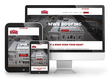 Red Crow Marketing Portfolio - MWE Roofing Website TN
