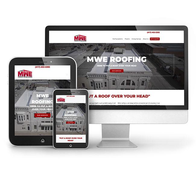 Red Crow Marketing Portfolio - MWE Roofing Website
