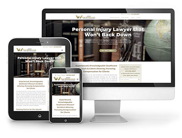 Red Crow Marketing - Web design - Portfolio Paul Wacker Law Website TN