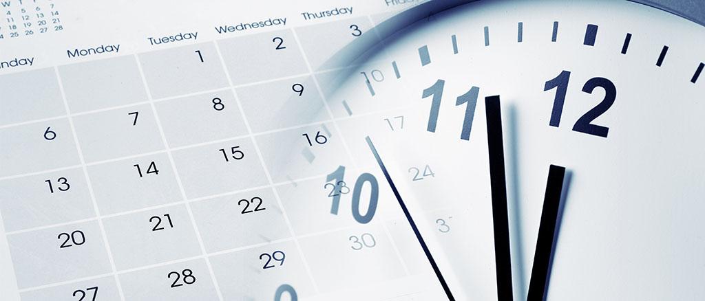 Calendar and Clock for Social Media Marketing Calendar