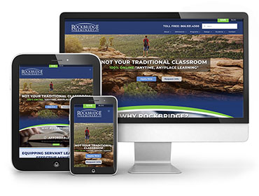 Red Crow Marketing Portfolio - Rockbridge Seminary Website TN