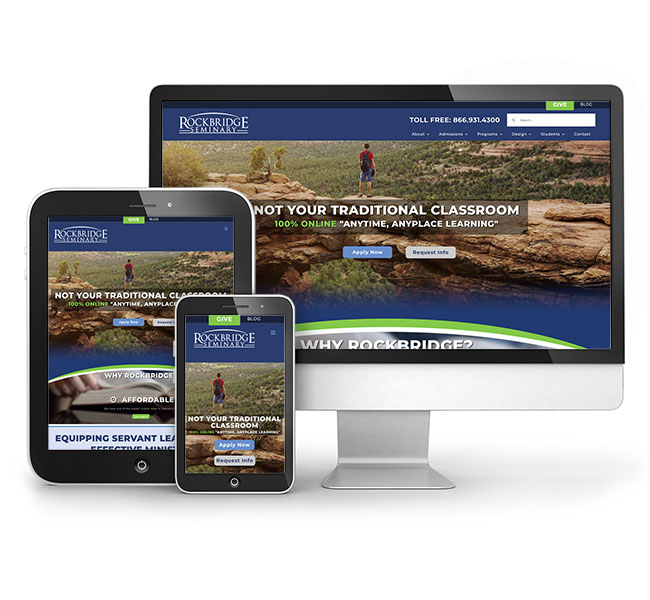Red Crow Marketing Portfolio - Rockbridge Seminary Website